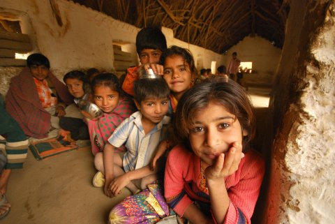 Boys and girls at a refugee camp in Rajasthan, India. © 2011 Abhijit Chakraborty/AARSHI, Courtesy of Photoshare