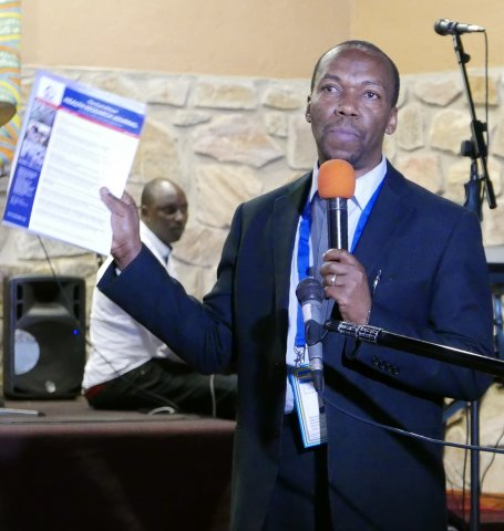 Editor‐in-Chief Gibson Kibiki, MD, MMed, PhD Executive Secretary, East African Health Research Commission launching EAHRJ at the EAC's 6th Health and Scientific Conference in March 2017