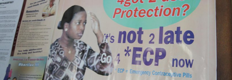 An emergency contraceptive pills poster at a family planning clinic in northern Nigeria. © 2010 Bonnie Gillespie, Courtesy of Photoshare