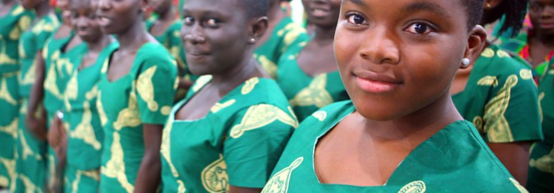 Winneba Youth Choir in Ridge, Accra, Ghana. © 2008 Sean Hawkey, Courtesy of Photoshare
